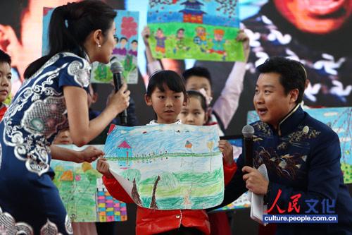 孩子画 描绘北京的春天