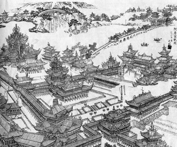 传说中的中国古代宫殿有多奢华?许多人曾陷入无尽想象.