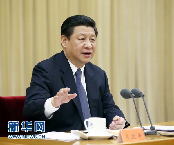 1月7日,中共中央总书记、国家主席、中央军委主席习近平在中央政法工作会议上发表重要讲话。 新华社记者 鞠鹏