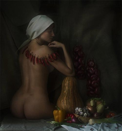 俄罗斯摄影师david d:宛如古典油画般的人体摄影