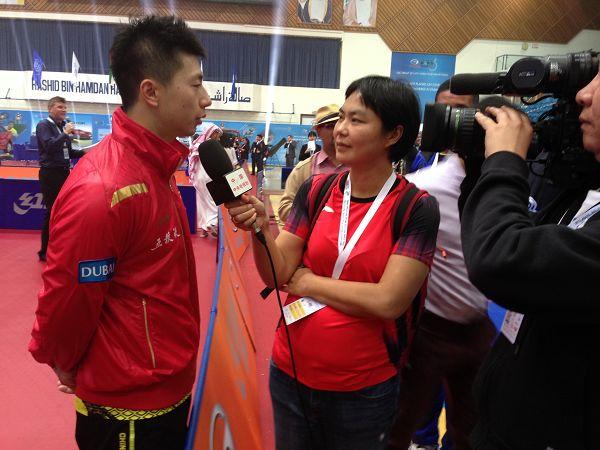 图文:2013乒联总决赛落幕 镜头对准马龙