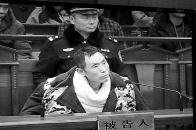 被告人范杰明在庭审现场。京华时报记者谭青摄