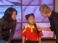 《艾伦秀第11季片花》乒乓神童冯芯雪对战艾伦 美国乒乓健将甘拜下风