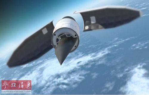 美国国防部研发的高超音速飞行器HTV-2构想图资料图片