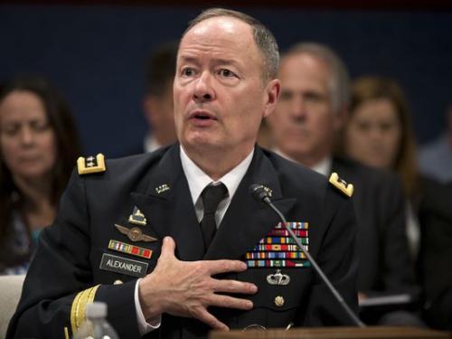 资料图:美国国家安全局局长基思・亚历山大将军。