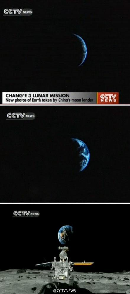 cctvnews:【从月亮看地球什么样?