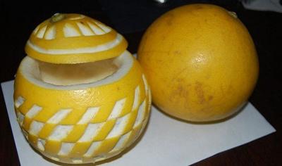 手工制作水果娃娃柚子