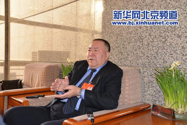 北京市人大代表朱玉岭接受新华网专访。新华网北京频道发 云赛侠摄