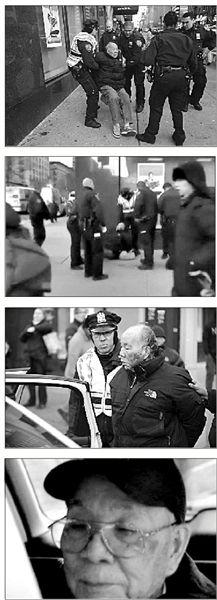 纽约警方称闯红灯华裔老人受伤系自己跌倒(图)