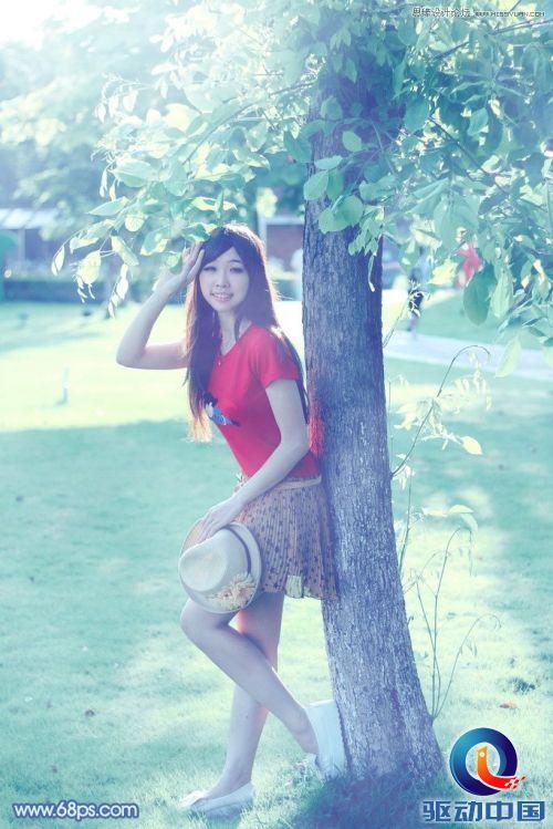 Photoshop调出倚树梦幻蓝色童鼎鼎与美女杀手a梦幻的组图调(美女图片