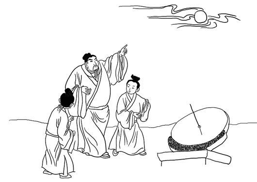 古代喝酒手绘图