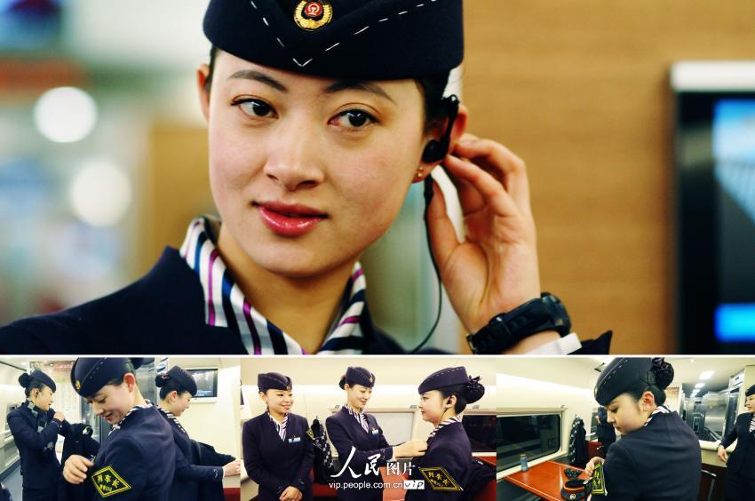 青岛90后美女列车长春运里的五朵金花组图