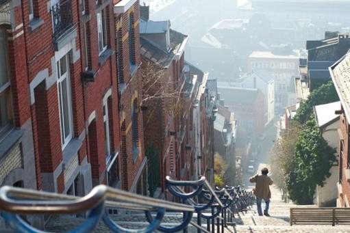 比利时Bueren山楼梯