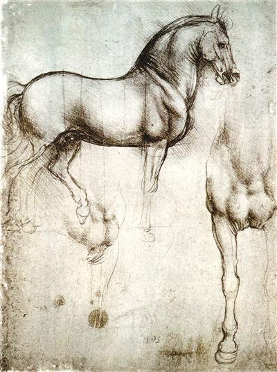 奔跑的马铅笔画图片下载分享