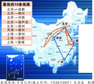 西安到上海铁路地图
