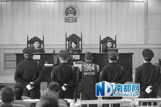 1月27日,连恩青在浙江省台州市中级人民法院听取一审判决。 新华社发