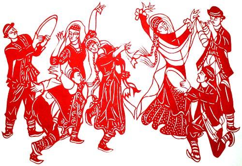 新疆民族团结手绘画