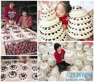 制作花糕(图)