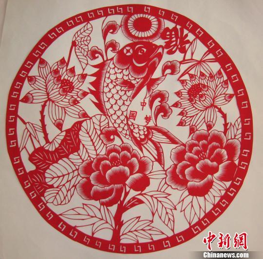 关于中国梦的剪纸 中国梦剪纸作品 中国梦主题剪纸作品