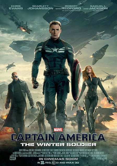 《美国队长2》电影海报图片