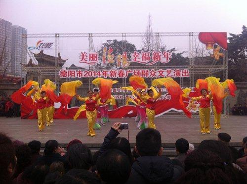 秧歌舞-群众舞台欢乐多 亲身参与更带劲
