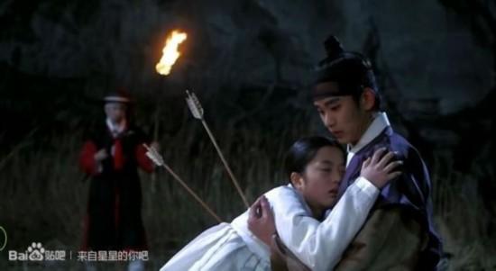 全智贤/《来自星星的你》第六集宜花死时,注意嘴角的血