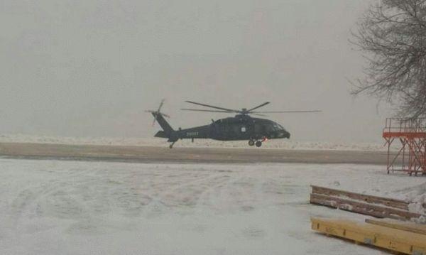 资料图:中国直20直升机首飞。