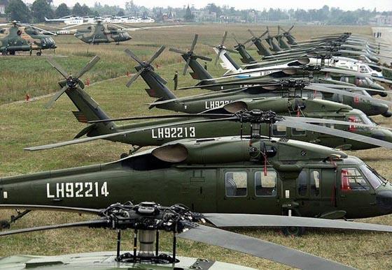 资料图:中国从美国购买的黑鹰直升机。