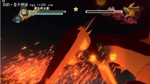 九尾妖狐不愧为神级boss,强大的查克拉让其拥有金刚不坏之高清图片