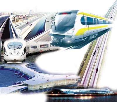 快速路网:大力推进北部新区快速路网建设,继续完善城市路网体系,进一步改善城市道路交通条件。