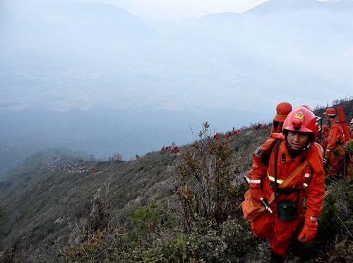 四川凉山森林火灾视频