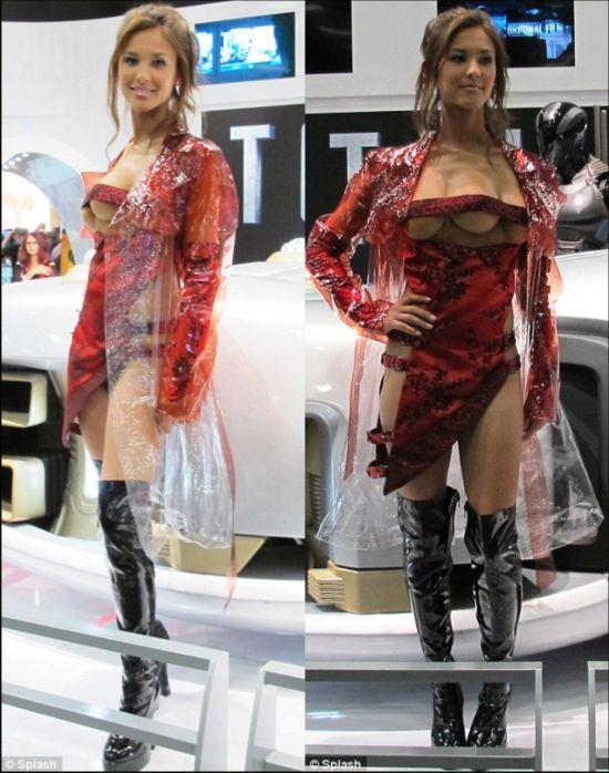 奇闻异事:长着三个乳房的美女模特