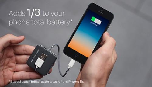 带电池的充电线 智能手机没电真正救星