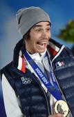 图文:男子U型场地技巧比赛 法国罗兰获得铜牌