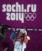 图文:自由式滑雪女子U型场地技巧 等待成绩