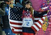 图文:自由式滑雪女子U型场地技巧 赛后庆祝