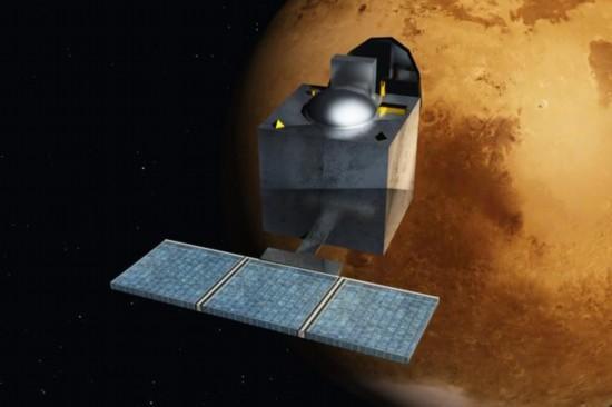 """资料图:印度首颗火星探测器""""火星飞船"""""""