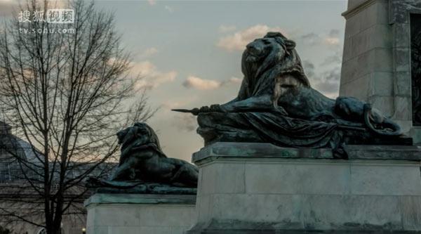 格兰特将军纪念地处的石狮,在之后还有出现