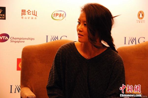 李娜谈网球理解。中新网记者王牧青摄。