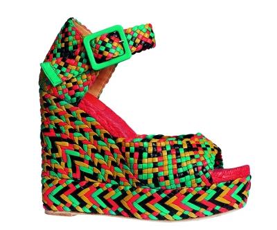 小牛皮编织凉鞋