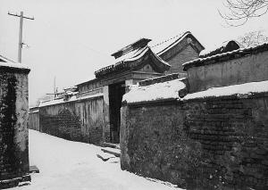 胡同雪景图片