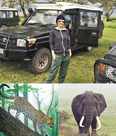 刘嘉玲走进非洲亲近大自然