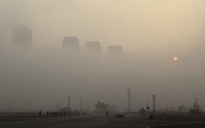 (态)(2)雾霾罩郑州