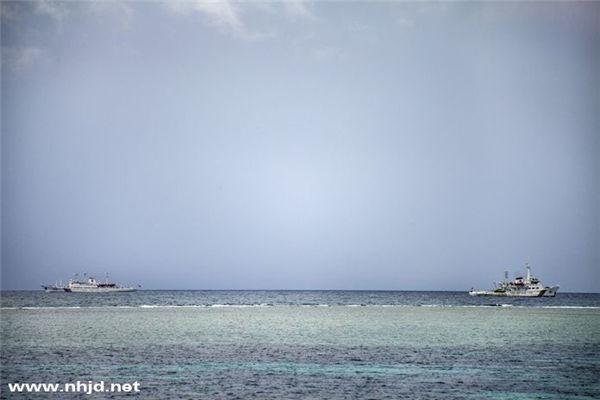 资料图:中国海警船已包围菲方搁浅登陆舰。