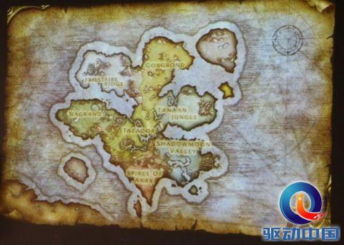 德拉诺大陆地图