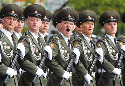 2008年5月9日,莫斯科红场举行盛大的阅兵仪式。
