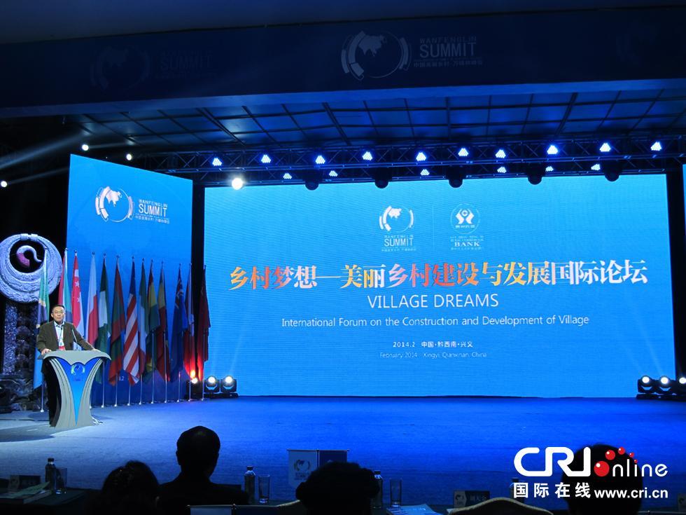 美丽乡村建设与发展国际论坛现场 摄影:王竹