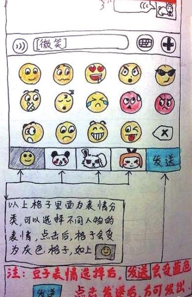 儿子手绘9页说明书教爸妈用微信(组图)