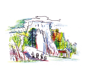 农家院子手绘图