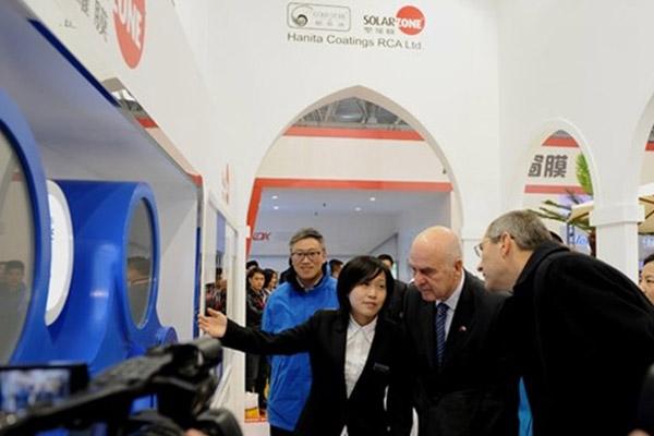 以色列驻华大使莅临圣罗、酷思迪窗膜展台